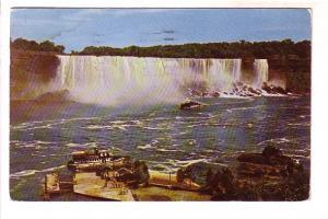 Maid of the Mist Landing Niagara Falls, American Falls, New York, Carhart Ser...