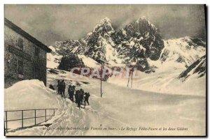Old Postcard Mountaineering Savoy Alps The winter Vanoise Felix Faure refuge ...