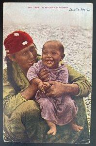 1913 Seattle WA USA Picture Postcard Cover Native American Indian Modern Madonna