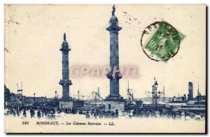 Old Postcard Bordeaux rostral columns