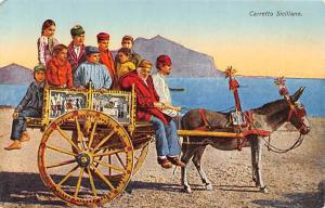 Italy Carretto Siciliano, Sicily Island Native People, Sicilian Carriage Donkey