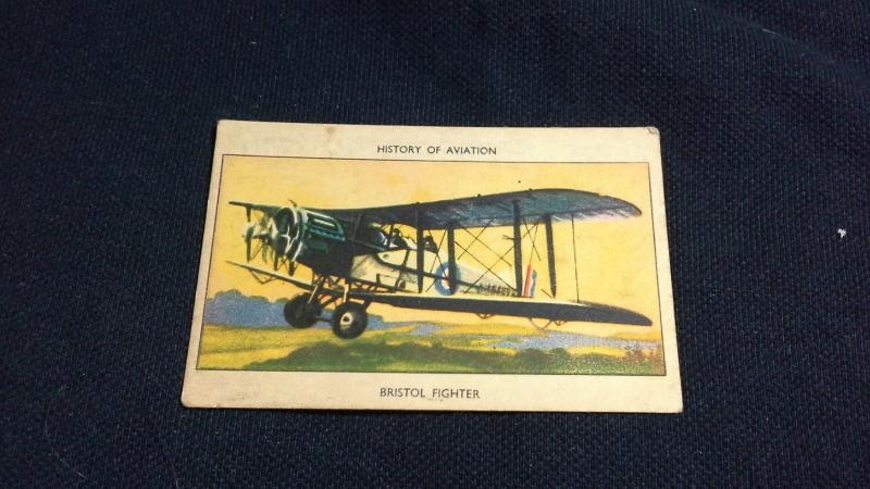 Cigarette Card No 12 History Of Aviation Bristol Fighter