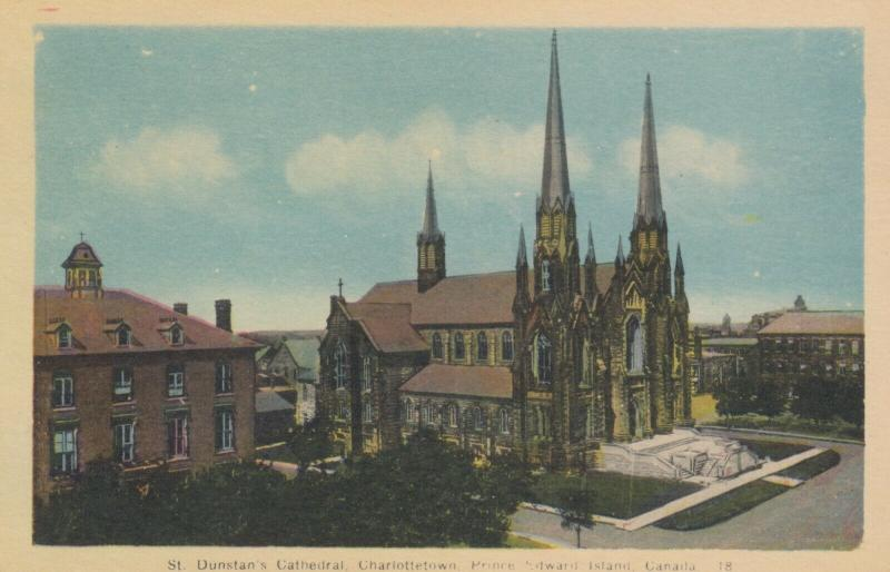 CHARLOTTETOWN, Prince Edward Island,  1930s ; Dunstan's Cathedral