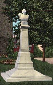 Ypsilanti, MI, Statue of Demetrius Ypsilanti, 1942 Linen Vintage Postcard h3581