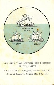 Ships That Brought The Nation's Founders to Jamestown in 1607