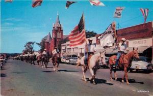 1950s Horses Parade Championship Parade Muskogee Oklahoma Clark Dexter Flag 2641