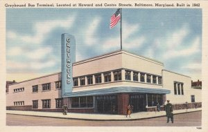 Maryland Baltimore Greyhound Bus Terminal Howard & Centre Streets sk5747