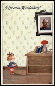Germany WWI General von Hindenburg Child Humor Jux Kitsche Patriotic PPC 70094