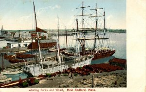 MA - New Bedford. Whaling Barks and Wharf