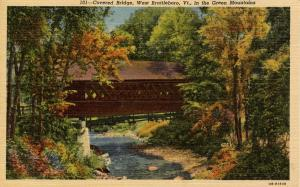 VT - West Brattleboro.   Covered  Bridge