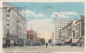CHARLOTTE, North Carolina, 00-10s; Tryon Street, Looking South from Trade Street