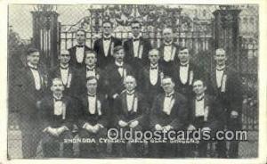 Rhondda cymric Male Glee Singers UnKnown Location Real Photo Postcard Postcar...