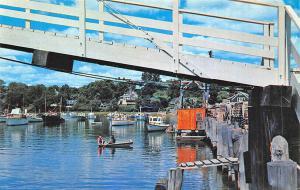 Ogunquit ME Perkins Cove Harbor Boats Postcard