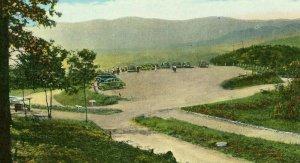Postcard Parking Lot & View Point on Pinnacle Mountain near Middlesboro, KY.  R7