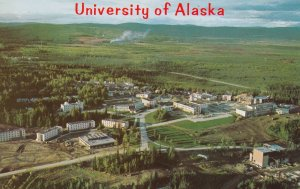 FAIRBANKS, Alaska, 1950-1960s ; Aerial view of the University of Alaska