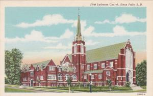 SIOUX FALLS , South Dakota;  30-40s ; First Lutheran Church