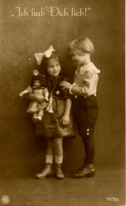 Boy & Girl - I Love You        RPPC