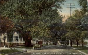 Jacksonville FL Second Street Springfield c1910 Postcard