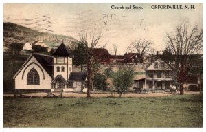 New Hampshire Orfordville  Church and Store