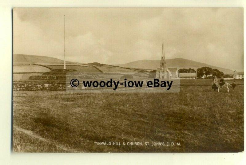 tp8176 - I.O.M. - Across Fields to Tynwald Hill & Church, St. John's - Postcard