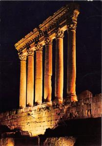 BR267 Lebanon Six columns of jupiter temple illuminated