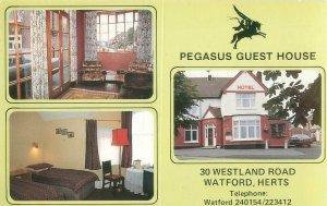 Pegasus Guest House 30 Westland Rd Watford Herts UK 3 Views Advertising Postcard