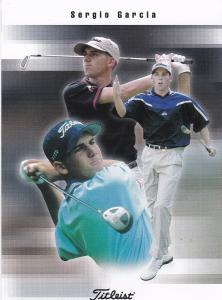 Print Advertising Titleist golfing products featuring golfer Sergio Garcia