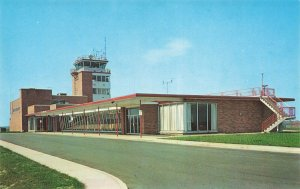 Wilmington DE New Castle County Airport Terminal Postcard