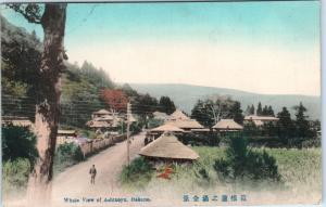 ASHINOYU, Hakone, Japan    Whole VIEW of Town    1912   Handcolored   Postcard
