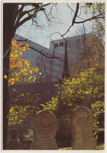 Indiana University, Bloomington, old tombstones, 1984 used Postcard