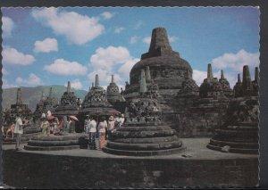 Indonesia Postcard - The Upper Circular Terrace of The Borobudur Temple   DC1744