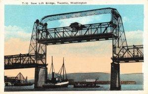 Vintage USA Postcard, New Lift Bridge, Tacoma, Washington, United States 45Y