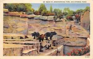 Bear Pit, Breckenridge Park San Antonio, TX, USA Bear 1942