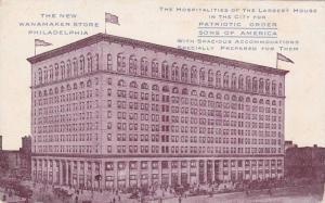 Exterior, The New Wanamaker Store,  Philadelphia,  Pennsylvania,   1907