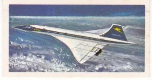 Trade Card Brooke Bond Tea History of Aviation black back reprint No 46 Concorde