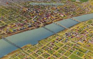 Arkansas Little Rock Aerial View 1951