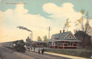 Danville Indiana scene at Big 4 Station antique pc DD7546