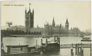 London, Houses of Parliament, early 1900s used Postcard