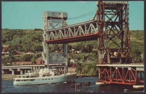 Ranger No 3,Houghton Hancock Lift Bridge,MI Postcard