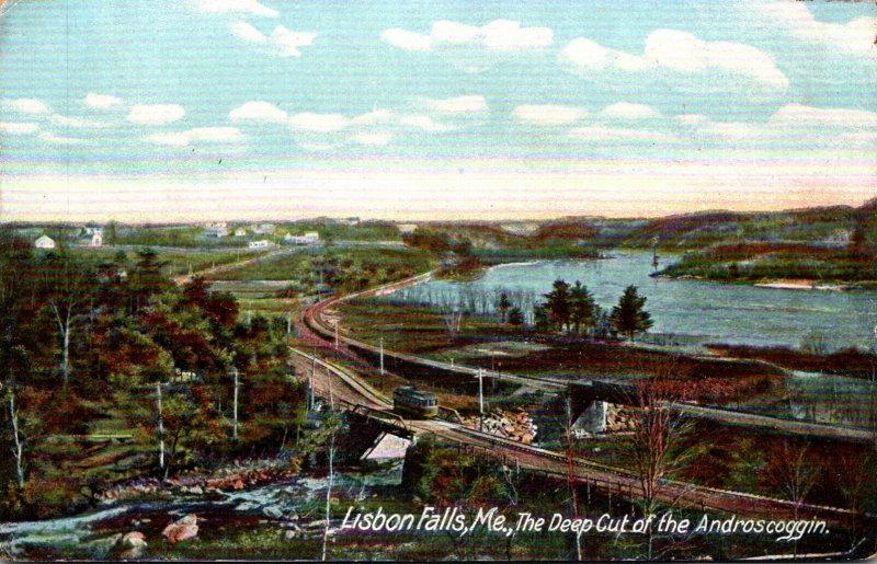 Maine Lisbon Falls The Deep Cut Of The Androscoggin River