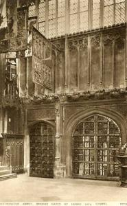 UK - England, Westminster Abbey, Bronze Gates of Henry VII's Chapel