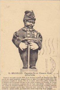 Belgium Brussels Mannekin Pis en Chasseur Alpin 1935