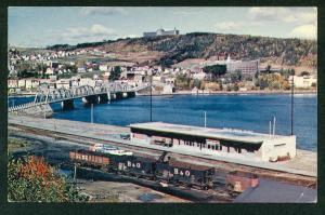 Gaspe Town Tuberculosis Sanitorium Railway Station Bridge York River Postcard