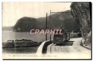 Postcard Old Route de Nice to Monaco Bay of Eze Tramway