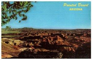 Vintage Tarjeta Postal Pintada Desierto Arizona Route 66