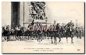 Old Postcard Militaria Paris Fetes victory July 14, 1919 The parade The salva...