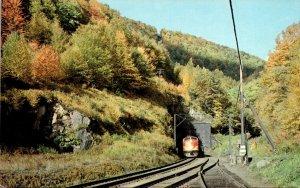 Massachusetts Mohawk Trail Diesel Train Emerging From East Portal Of Hoosac T...
