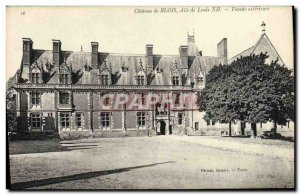 Old Postcard Chateau De Blois From Louis XII Wing external Facade