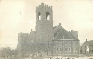 1913 ME Church Pierre South Dakota RPPC real photo postcard 6197