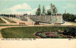 Kansas City Missouri~Cannon Aimed at 12th St And Paseo~1907 Postcard
